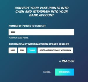 GetVase survey auto Withdraw