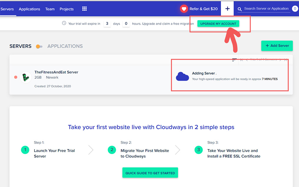 Cloudways step by step教学