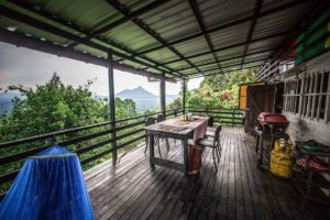 Mendung escape airbnb dining area