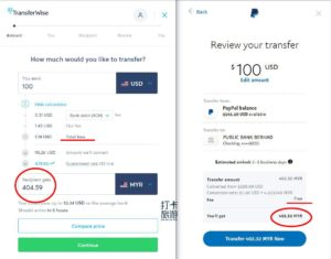 Paypal Vs Transferwise rate
