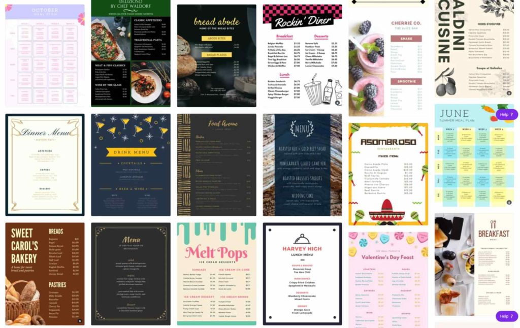 canva-menu-templates