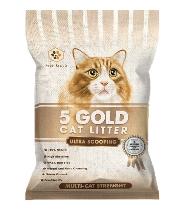5 gold cat litter