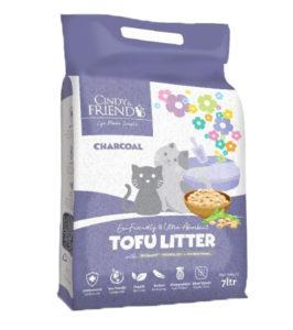 cindy and friend charcoal tofu litter