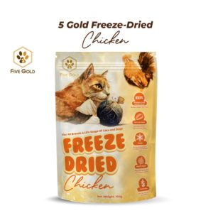 new Five gold frezee dried cat