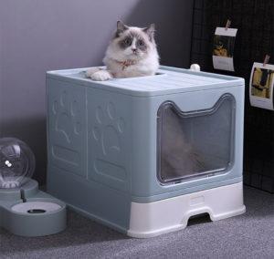 Cat litter covered drawer