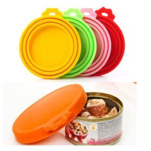 Cat food cap storage