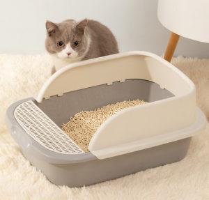 cat litter box opened